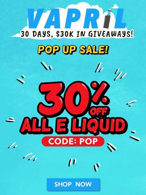 Vapor Joes - Daily Vaping Deals: EJUICE BLOWOUT: 30% OFF ALL LIQUIDS - 185 PAGES!