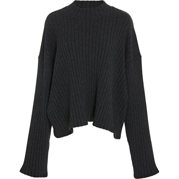 Castores Cropped Sweater | Moda Operandi (5,790 MXN) ❤ liked on Polyvore featuring tops, sweaters, cropped sweater, crew neck sweater, over sized sweaters, oversized knit sweaters and knit top