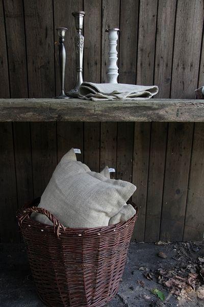 poduszki z lnu - dom-artystyczny - Poduszki