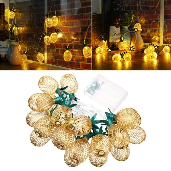 Battery Powered 23M 20LEDs Warm White Pineapple Shaped Outdoor
