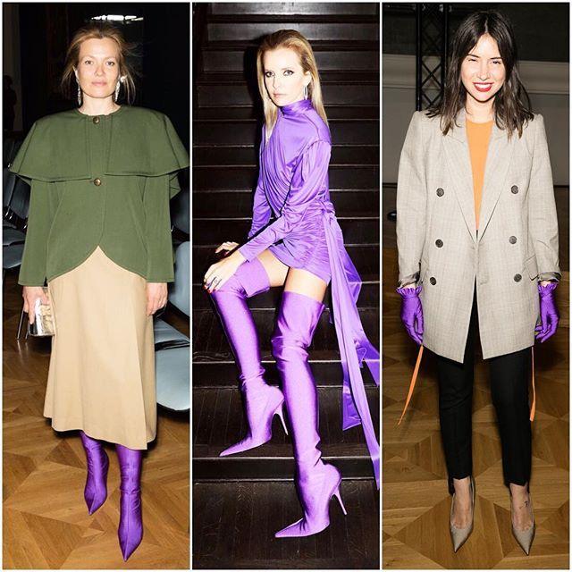 Нашим любимым героиням вчера было всё фиолетово. Спасибо Демне Гвасалия за сапоги и перчатки #balenciaga  @zverkov_ko  via TATLER RUSSIA MAGAZINE OFFICIAL INSTAGRAM - Celebrity  Fashion  Haute Couture  Advertising  Culture  Beauty  Editorial Photography  Magazine Covers  Supermodels  Runway Models