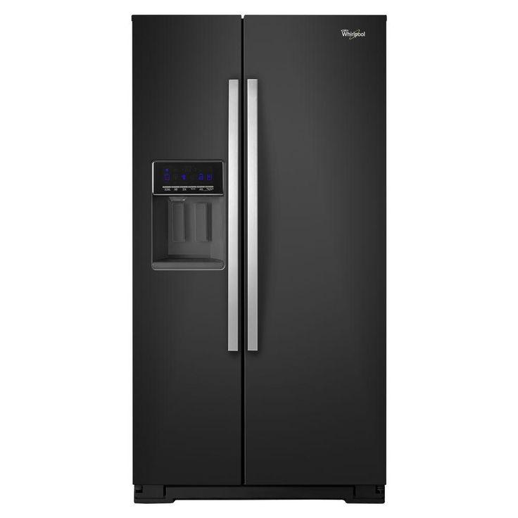 Whirlpool 36 in. W 26 cu. ft. Side by Side Refrigerator in Black Ice-WRS586FIEE $1439