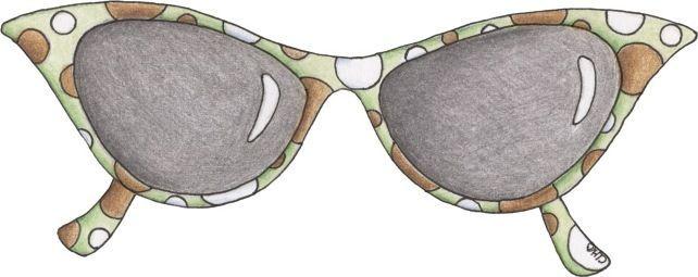 Modernas y divertidas, de colores estos dibujos de gafas de sol para imprimir  que gustan a las chicas jovenes te pueden ayudar a las compos...