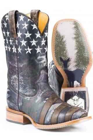 Camoflag Tin Haul Boot With Hunt Club Obvious Sole Cowboy Boots Urban Western Wear