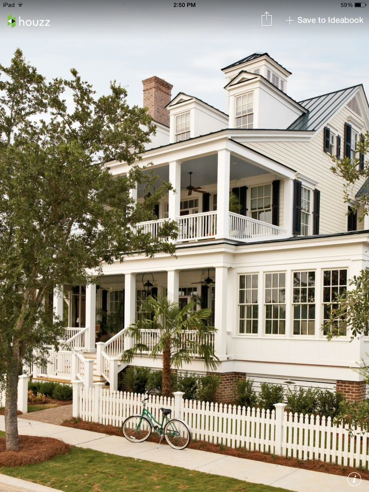 Exterior House Design Stacked Porches And Sunroom