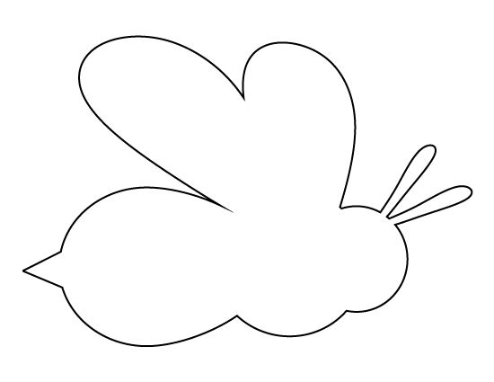 Bee pattern. Use the printable outline for crafts, creating stencils, scrapbooking, and more. Free PDF template to download and print at http://patternuniverse.com/download/bee-pattern/