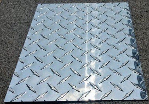 Aluminum Diamond Tread Plate Sheet 125 24 X 48 Etsy Diamond Plate Aluminum Free Plates