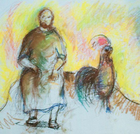 Bozzetto preparatorio dell'opera San Pietro e il gallo - Pasquale Scognamiglio