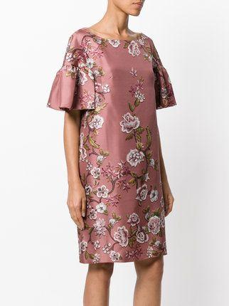 Alberta Ferretti Seidenkleid mit Blumen-Print