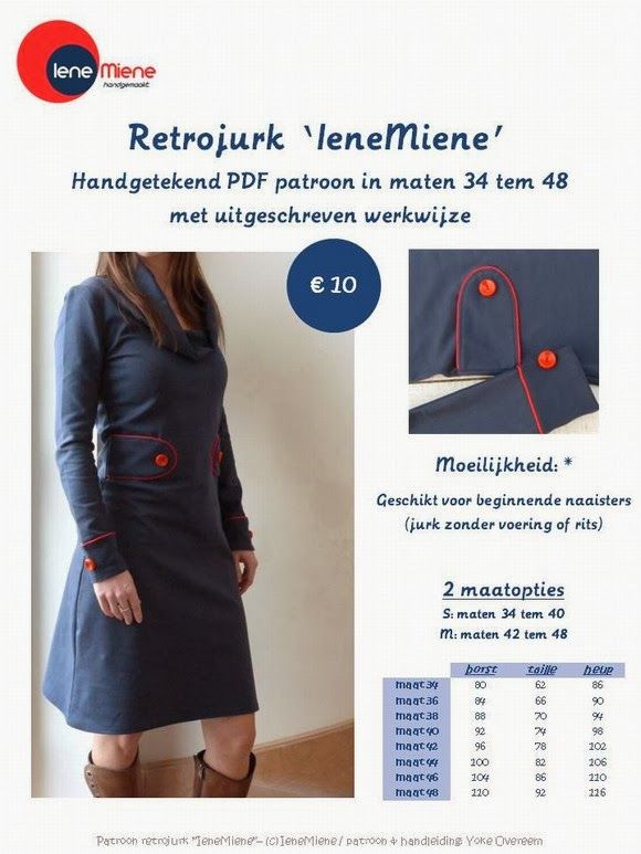 Retro Dress - Iene Miene Patterns