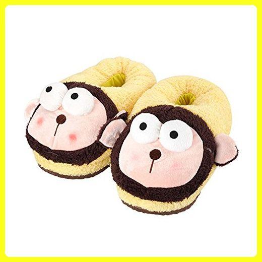 Mlotus Soft Plush Stuffed Animal Monkey Slippers Winter Novelty Shoes for Women