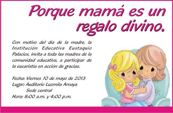 Resultado De Imagen Para Tarjeta Invitacion Para Mama