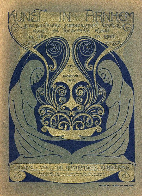 Tijdschrift - Kunst in Arnhem, omslagontwerp: Gijs Jacobs van den Hof (1919)