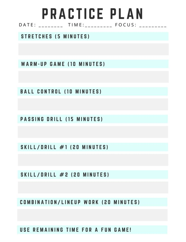 2 hour volleyball practice plan template