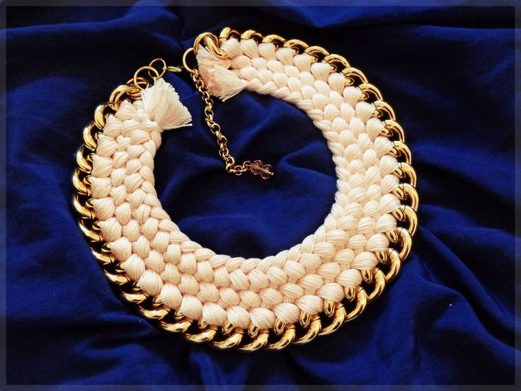 - triple braided Fire de Murg necklace -