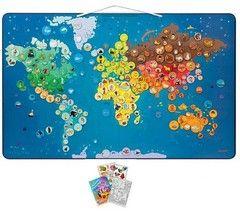 Μαγνητικός παγκόσμιος χάρτης ζώων