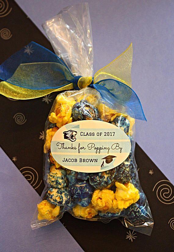 18 Class Color Popcorn Personalized Graduation Party favors