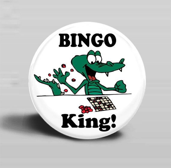 Bingo King  PINBACK BUTTON or MAGNET2.25 by CreativeXpression1