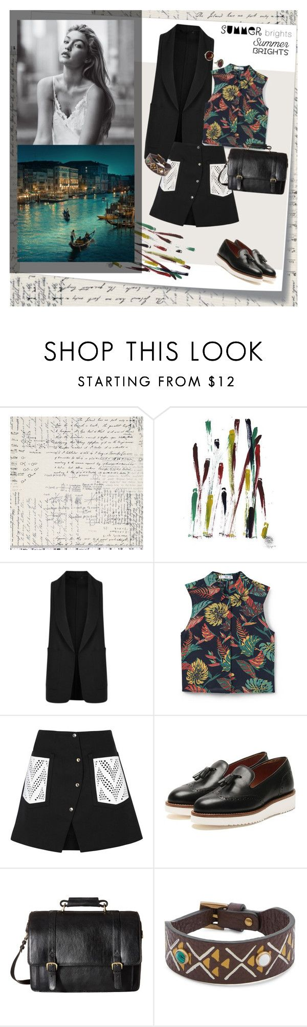 """""""Летние ночи..."""" by mariettamyan ❤ liked on Polyvore featuring Post-It, NOVICA, Alexander Wang, MANGO, Kenzo, Grenson, Scully and Valentino"""