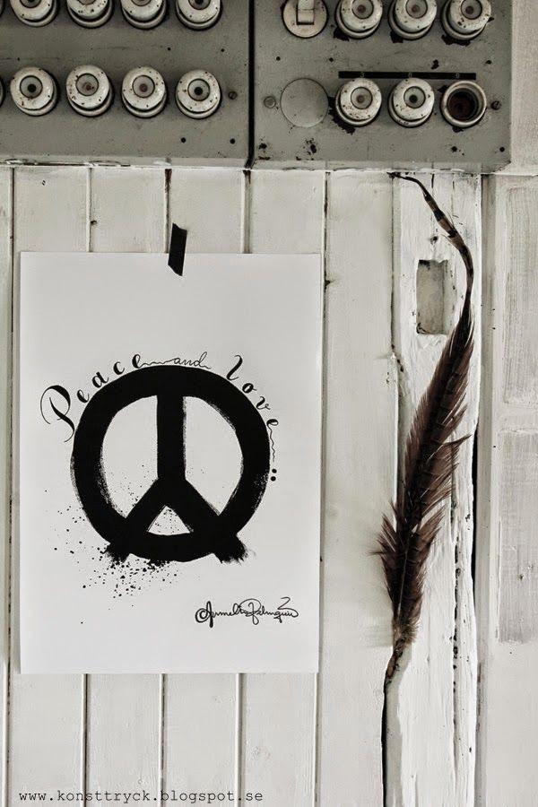 peace konsttryck, artprints, artprint, poster, svart och vitt, svartvita, motiv, tavlor, tavla, konst, handmålat,