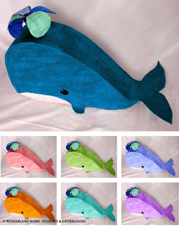Whale Pinata Made to Order by wunderlandhome on Etsy