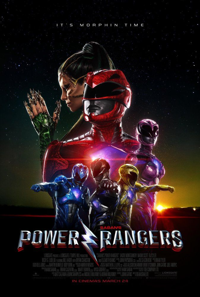 Elizabeth Banks, Becky G., Dacre Montgomery, Naomi Scott, Ludi Lin, and RJ Cyler in Power Rangers (2017)