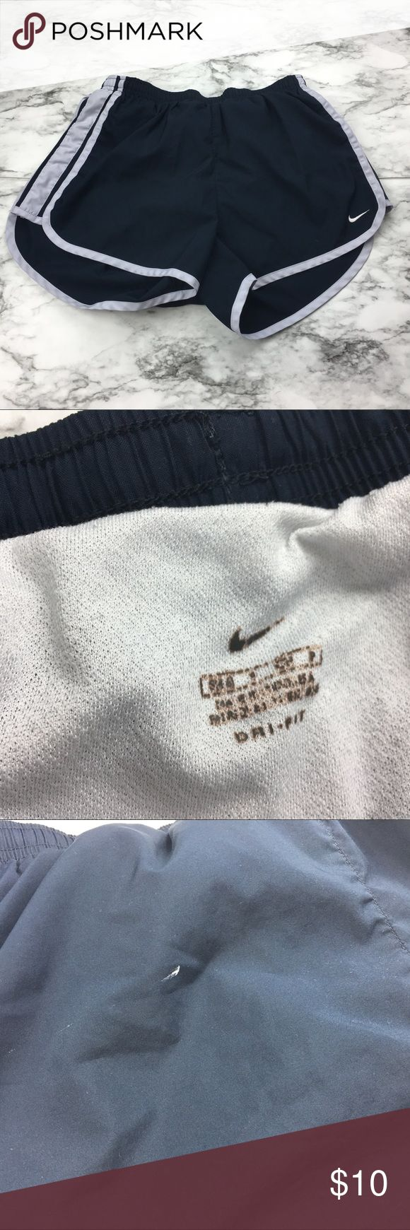 NIKE women's navy shorts Excellent worn condition, no holes. Small white stain on the back. Navy blue. Size: small Nike Shorts