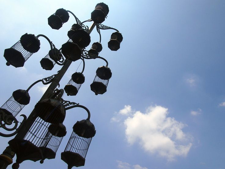 Bird cage street lights – Solo, Indonesia.