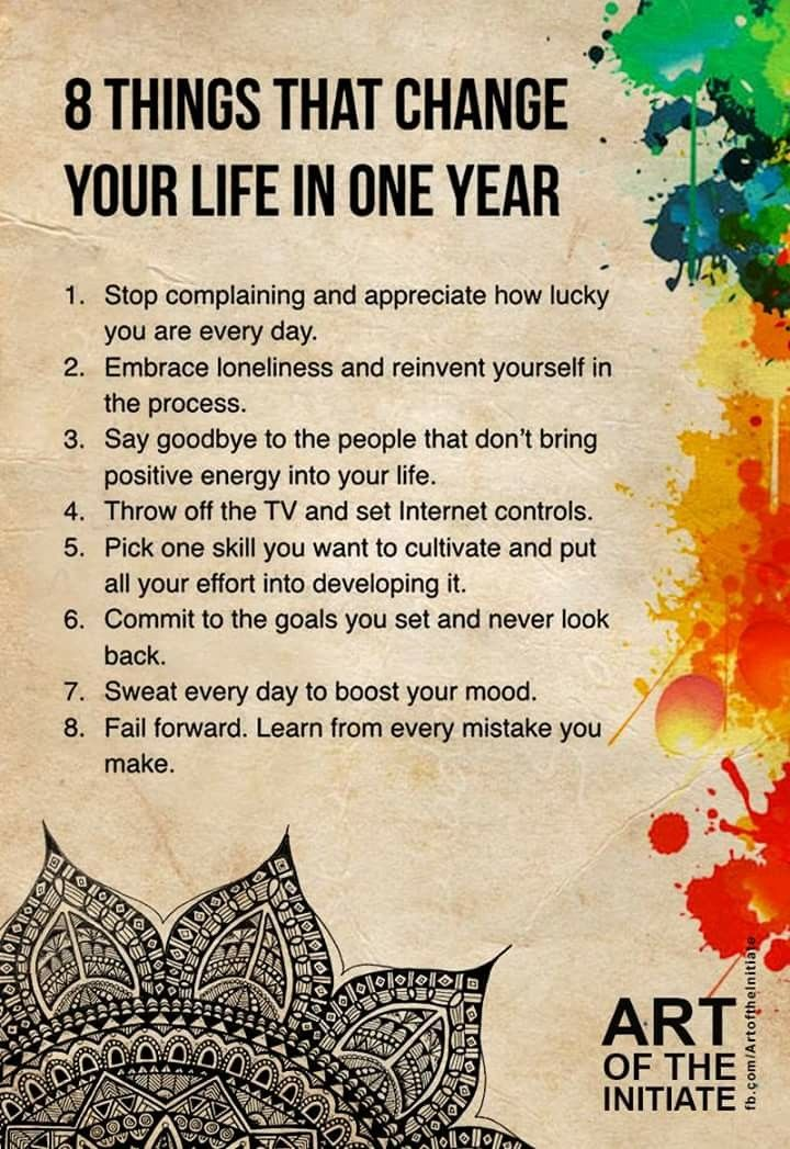 8 things that change your life in a year Positivity