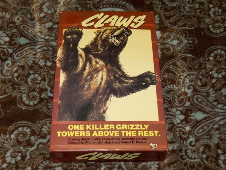 Claws (VHS, 1985) Rare HTF OOP Video Gems Big Box! Grizzly Horror! *NOT ON DVD*