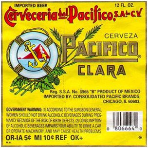 Pacifico Clara - definitely like better than Corona; goes great with chimichangas at the local mexican restaurant