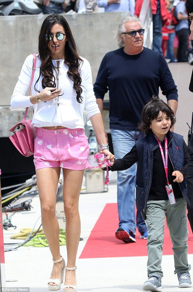 Family time! Elisabetta Gregoraci put on a stunning display as she stepped out in Monaco f...
