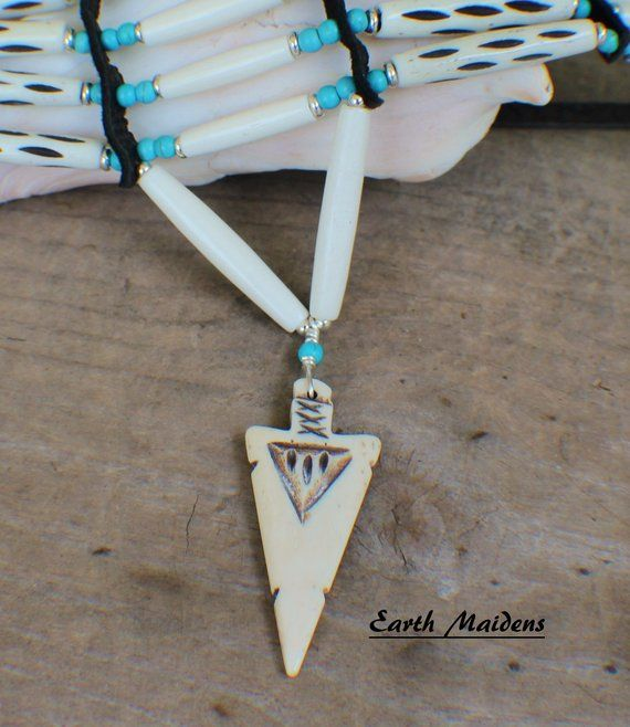 "Buffalo Bone ARROWHEADS 2 1//2 /""  Necklaces"