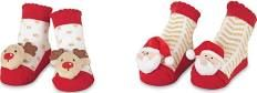 Mud Pie - Gold Holiday Rattle Toe Socks