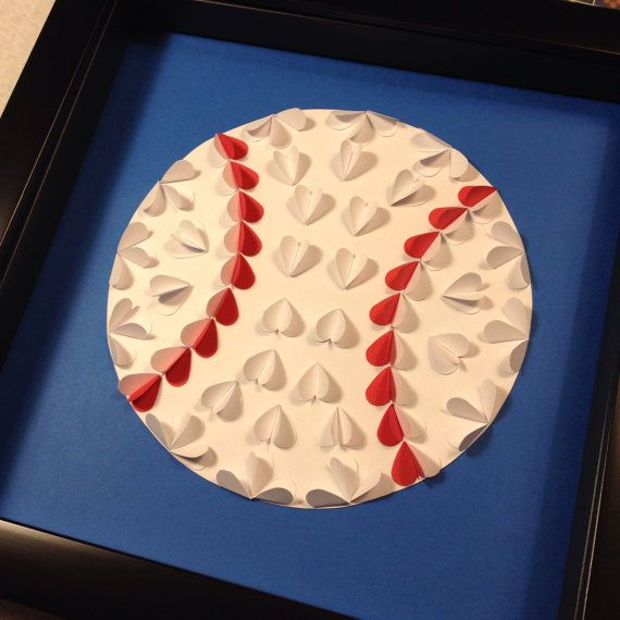 3d Baseball Shadow Box by JTanakaDesigns on Etsy