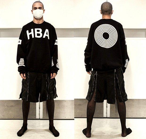 Hood By Air HBA 69 Long T Shirt Men Women 2015 Autumn Fall Winter Cotton  Thick