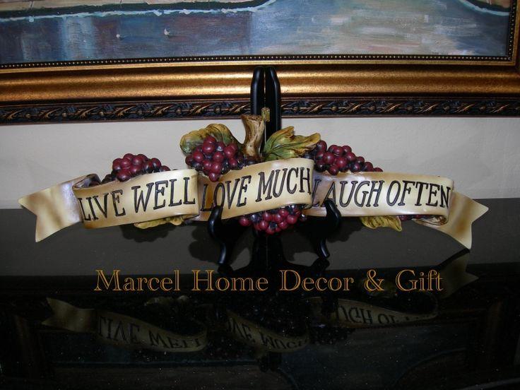 Wine Grapes Kitchen Art Decor