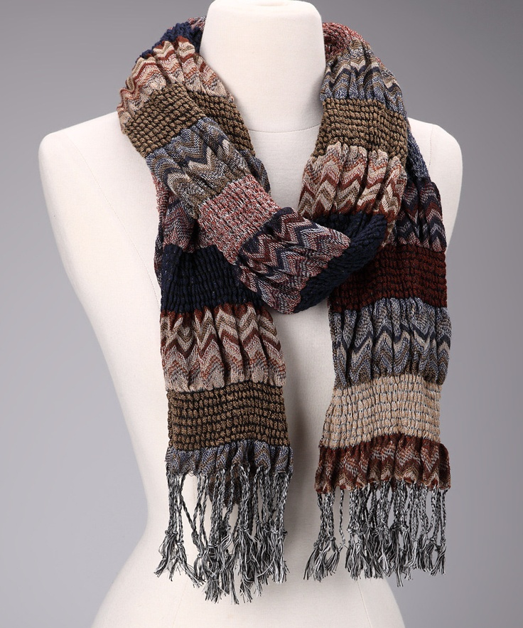 Brown Zigzag Winter Bunchy Scarf.    http://www.zulily.com/p/zig-zag-winter-bunchy-scarf-25981-2129342.html?pos=26=1: Zigzag Winter, Stuff, Clothing, Scarves Ken Business, Bunchi Scarfs, Scarves Ideas, Winter Bunchi, Brown Zigzag, Stole