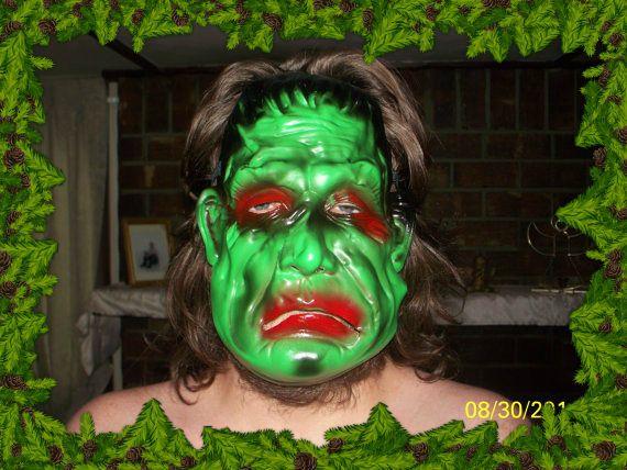 Adults Vintage Frankenstein Movie Mask, Rubber Latex Halloween Mask  #Unbranded #Frankinstine #Halloween