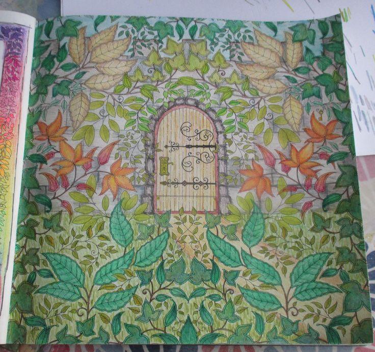 Johanna Basford Secret Garden Hidden Door Colored Pencil