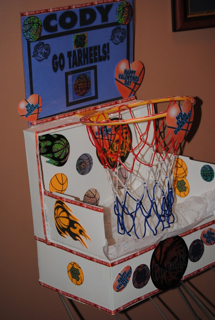 Basketball Valentine Box- Guess I will be working on this over the weekend!  Only it will be Thunder themed!!!