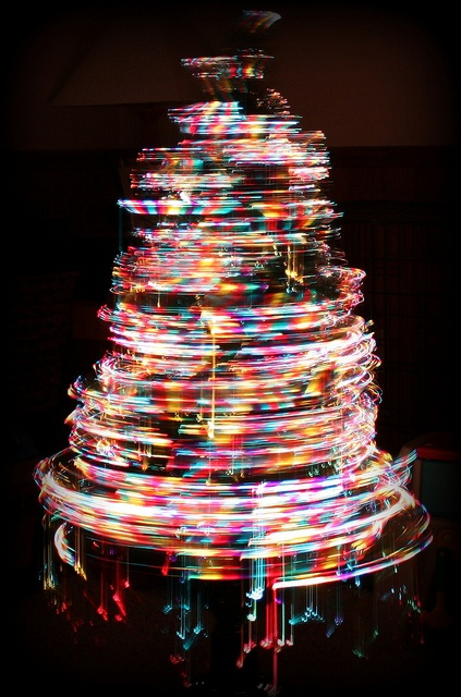 Elegant A Foot Tall Fiber Optic Christmas Tree Slowly Spinning And Color  Changing Small Artificial With Mini Artificial Christmas Tree