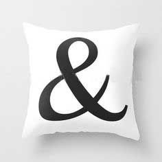 Ampersand Cotton Decorative Cushion Covers . 450mm x 450mm. $25