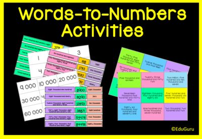 Numbers to Words and Vice Verca  Place Value Activities from EduGuru on TeachersNotebook.com -  (27 pages)  - This product includes 153 cards to support students when they learn how to write numbers in words and vice versa.