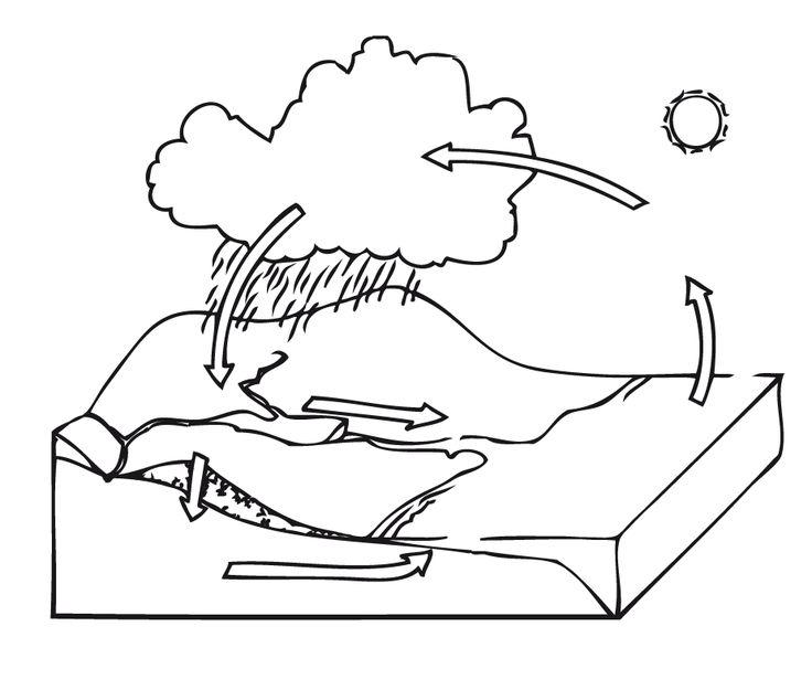 Más de 25 ideas increíbles sobre Ciclo del agua dibujo en