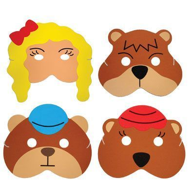 These foam childrens masks are great for telling and acting out the story of Goldilocks!