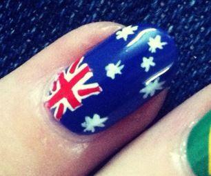 Australian Flag Nail Art Tutorial #AustraliaDayOnboard