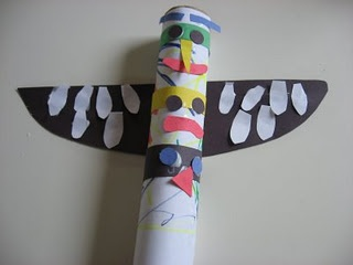 Paper Towel Roll Totem Pole
