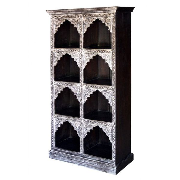 Rustic Carved Dark Bookcase http://www.theimporter.co.nz/collections/new