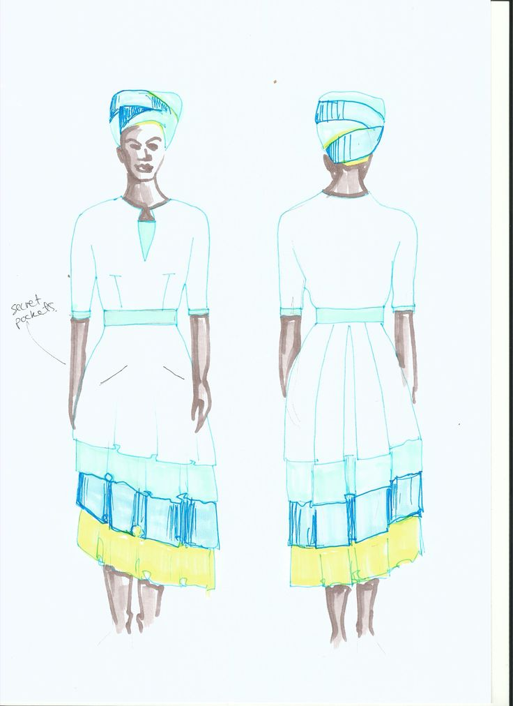 Traditional Sepedi wedding - Bride's outfit